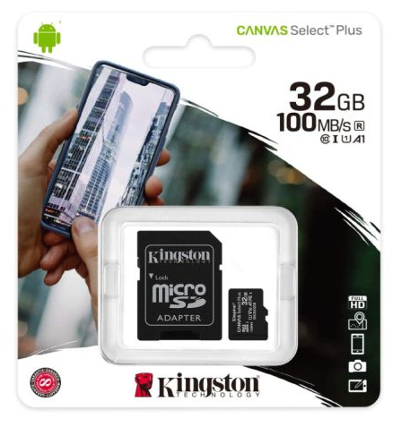 Kingston 32GB Canvas Select Plus Micro SD
